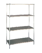 Metro EZ Super Erecta Solid Shelf Convenience Pak, Galvanized