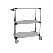 MWG 300 Series Utility Cart, galvanized solid shelves