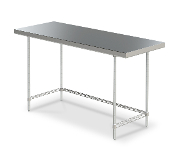 Space Saver 24 inch Deep Work Table with 3-sided frame