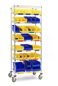Kanban Two-Bin Mobile Storage Unit