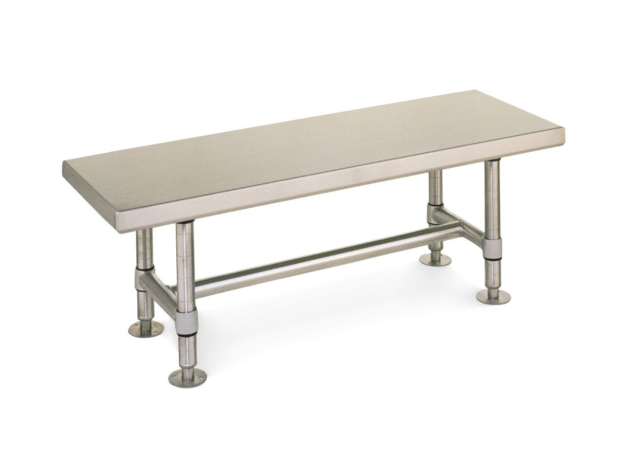 metro gowning bench stainless steel -