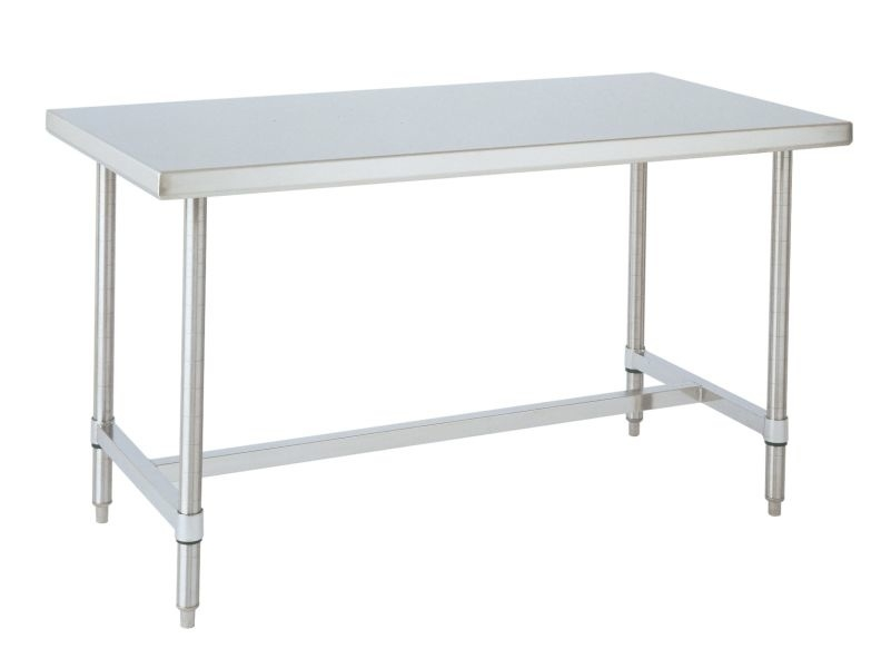 Kitchen Island 36 Wide metro kitchen island table - 36 wide, ss, h frame