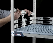 "MetroMax i - 2"" Stackable Solid Clear Shelf Ledges"