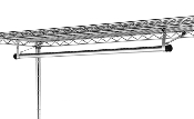 Metro Garment Hanger Tube with Brackets
