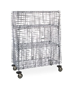 Metro Standard-Duty Mobile Security Storage Unit - Stainless Steel (shown with optional intermediate shelves)