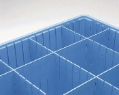 Tote Box Dividers, Short and Long, Benstat Blue, static dissipate