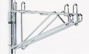 Metro Double Post Mount Shelf Bracket, Chrome