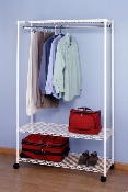 Metro Economy Hanging Garment Rack with Shoe Shelf