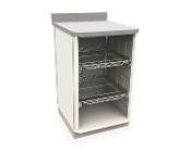 Single Wide Open Cabinet w full extension wire shelves