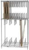 Stencil Storage Rack - Type B - Chrome