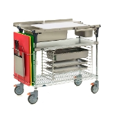 PrepMate MultiStation - Solid Galvanized Top with Accessories