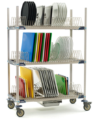 MetroMax I Three Tier Tray Rack with drip tray