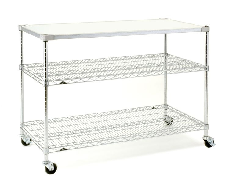 Metro Mobile Prep Table Stainless Steel Shelving - Stainless steel table top shelves